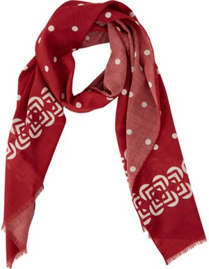 Kiton men's Paisley & Key-Pattern Scarf: US$480.