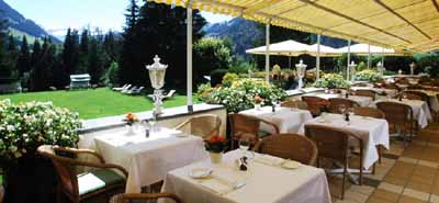 La Grande Terrasse at the Gstaad Palace hotel.