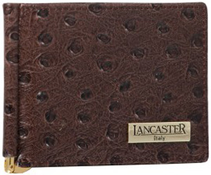 Lancaster ostrich embossed calf leather men's wallet: €135.