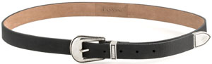 Lanvin Black grained Calfskin Men's Belt with Lasered Pattern: US$920.