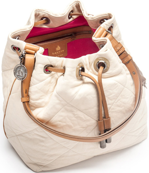 Lanvin Amalia Bucket Bag in Lambskin: US$2,590.