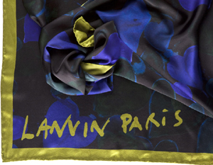 Lanvin women's heart print washed satin scarf: US$395.