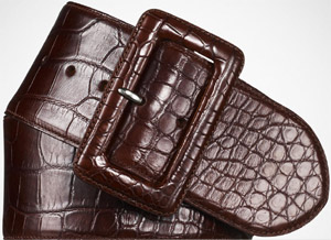Ralph Lauren Women's Alligator Trench-Buckle Belt: US$1,995.