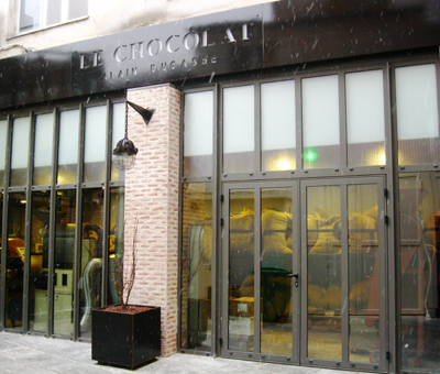 Alain Ducasse's chocolate factory in Paris.