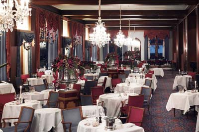 Le Restaurant at Badrutt's Palace.