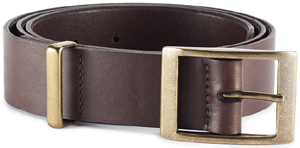 LeatherProjects Men's Belt with brass loop.