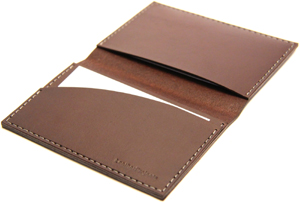 LeatherProjects Men's Wallet, Dark Brown.