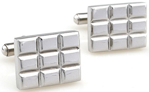 Leex International Check cufflinks.