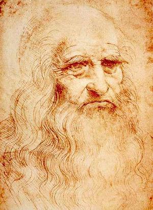 Self-portrait in red chalk (Leonardo da Vinci).
