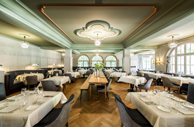 Leonard's at hotel Le Grand Bellevue, Hauptstrasse, CH-3780 Gstaad.