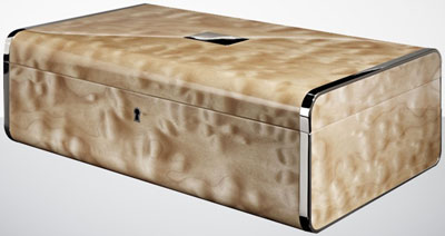 Linley Hepburn Jewellery Box in Quilted Maple: £5,000.