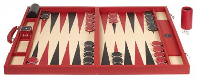 Bespoke backgammon board by Linley.