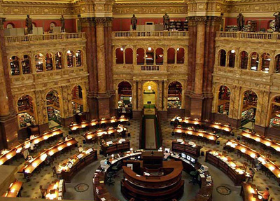 Library of Congress' reading room.
