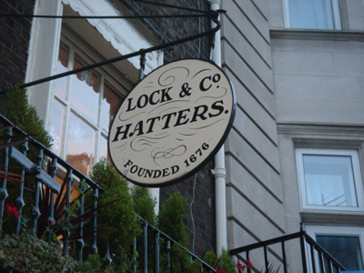Lock & Co. Hatters, 6 St James's St, London SW1A 1EF, United Kingdom.