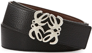 Loewe Reversible Anagram-Buckle Men's Belt, Black to Tan: US$400.