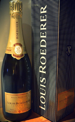 Louis Roederer champagne.