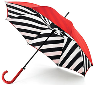 Lulu Guinness Diagonal Stripe Bloomsbury Women's Umbrella: £40.