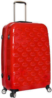 Lulu Guinness Red Hard Sided Lips Large Spinner Case: £245.