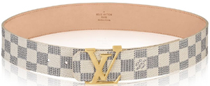 Louis Vuitton LV Initials Damier Azur Women's Belt: US$490.