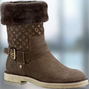 Louis Vuitton Fauvist Half Boot In Suede Calf.