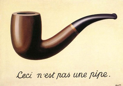The Treachery of Images (1928-29) by René Magritte.
