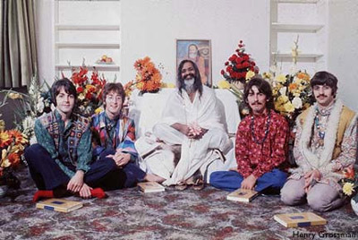 Maharishi Mahesh Yogi and The Beatles.