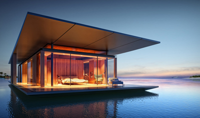 Floating House by architect Dymitr Malcew.