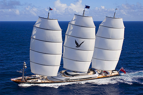 World's most advanced high tech sailing yacht: The Maltese Falcon.