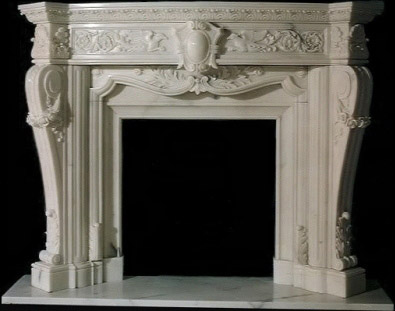 French white marble Fireplace mantle surround: US$1,495.