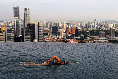 The Swimming Pool at Marina Bay Sands, 10 Bayfront Avenue, Singapore 018956.