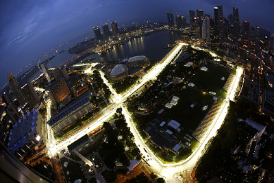 Marina Bay Street Circuit, Marina Bay, Singapore.