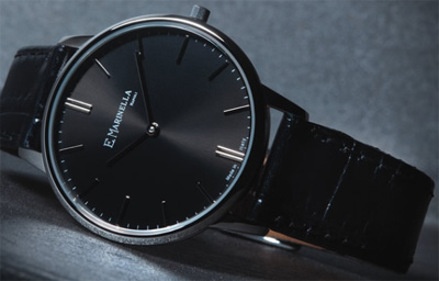 E. Marinella men's ultra thin watch.