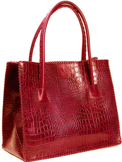 Michael Toschi Red Croc Bread Bag.