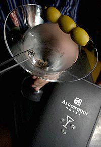 World's most expensive drink: Martini on the Rock at The Algonquin Hotel.
