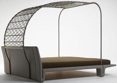 Matteograssi TC18BD bed by Franco Poli.
