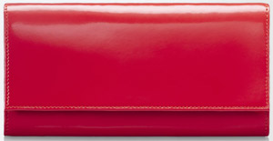 Max Mara Leather women's wallet with multiple pockets, with logo.