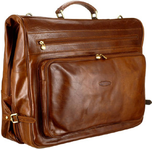 Maxwell Scott Tan Leather Garment Carrier (Rovello): £529.99.
