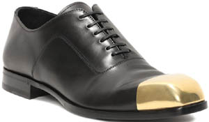 Alexander McQueen Metal Toe Cap Lace Up Mens Shoe: US$1,075.