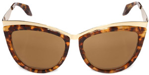 Alexander McQueen Metal Brow Cat Eye sunglasses: US$395.