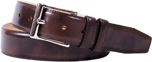 Meermin Dark Brown Museum Calf men's belt: €70.