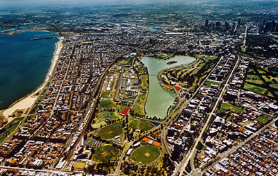 Melbourne Grand Prix Circuit.