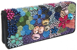 Nicole Miller Mulberry Women's Jewel Clutch: US$285.