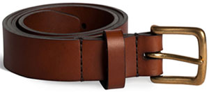 Tailfeather Miner 38 - Tan leather men's belt: AUD110.00.