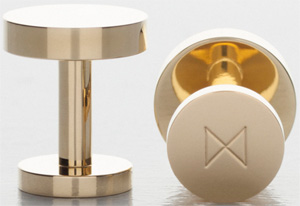 Minimalux Polished Brass cufflinks: £110.