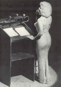 Actress and singer Marilyn Monroe on Saturday, May 19, 1962 singing 'Happy Birthday, Mr. President' for President John F. Kennedy.