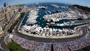 Supercars and superyachts at the Monaco Grand Prix.