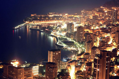 Monaco nightlife.