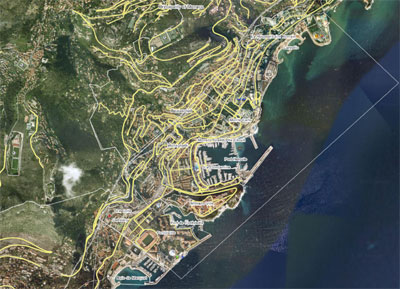 Aerial photo of the Principality of Monaco - Wikimapia.