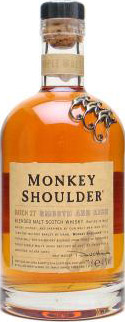 Monkey Shoulder Triple blended malt whisky.
