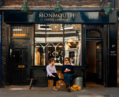 Monmouth coffeehouse, 27 Monmouth Street, Covent Garden, London WC2H 9EU, England, U.K.